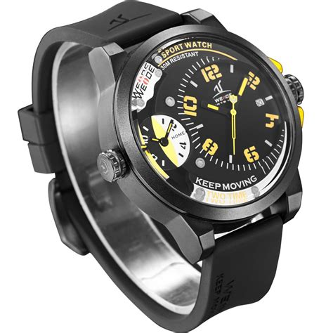Weide Universe Series Dual Time 30m Water Resistance Limited 1 weide universe series dual time zone 30m water resistance uv1501 yellow jakartanotebook