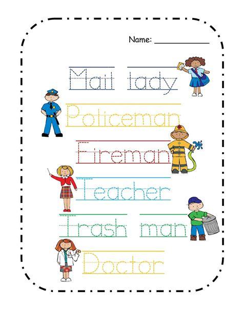 preschool printables free community helper s mini