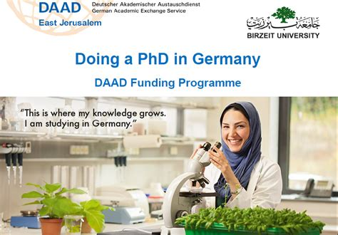 Phd Programs For Mba Graduates In Germany by Doing A Phd In Germany Daad Funding Programme
