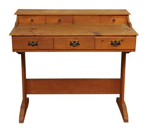 colonial desk colonial style pine desk with seven drawers olde things