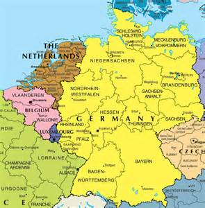 Germany On The Map by Political Map Of Germany Full Size
