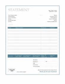 billing statement blue border design statements templates