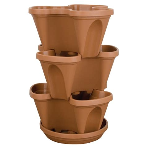 Resin Planters by Resin Stackable Planter Metropolitan Wholesale