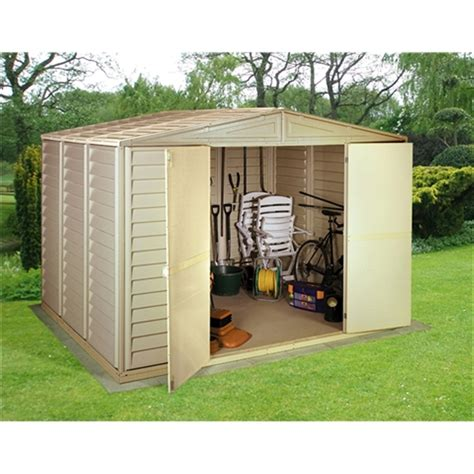 Pvc Sheds Uk by 10 X 13 Select Duramax Plastic Pvc Shed With Steel Frame