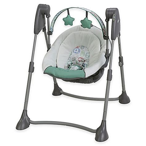 graco baby swing not swinging graco 174 swing by me portable swing in cleo buybuy baby