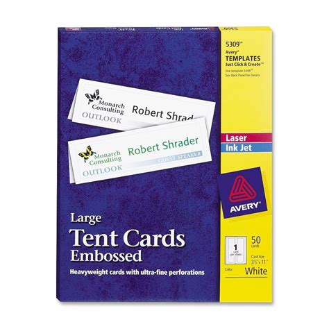 avery bifold tent card template avery tent card ld products