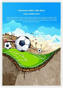 sports soccer field editable word template  design