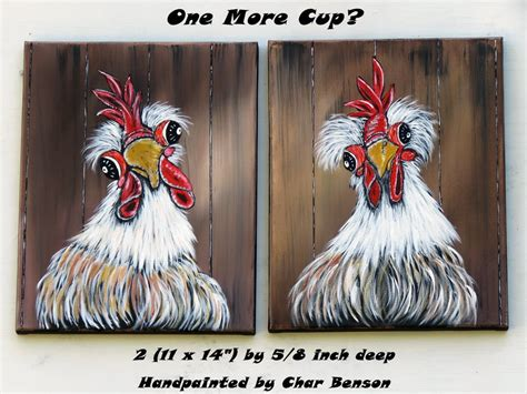 unusual design whimsical whimsical home decor items original acrylic painting country kitchen wall art