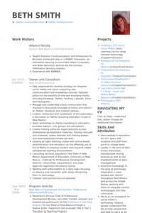 adjunct faculty resume sles visualcv resume sles