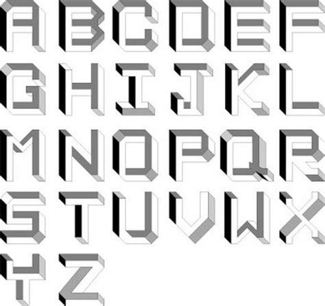 lettere impossibile impossible alphabet illusion