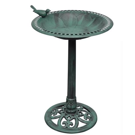 bird bath with decorative bird www vidaxl com au