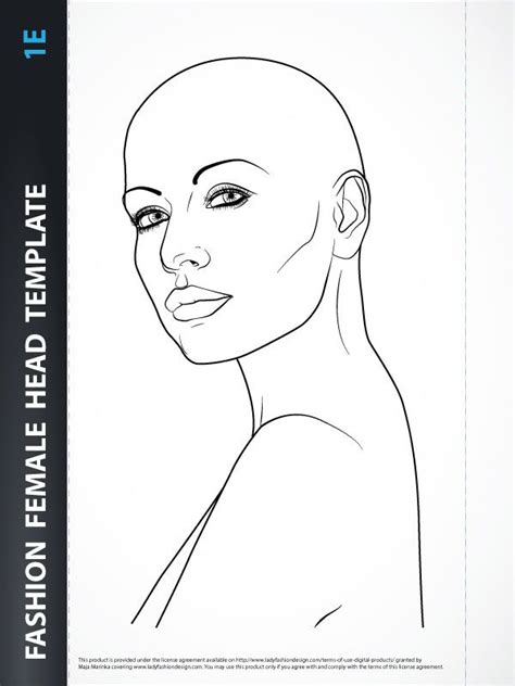 hairstyle female head template sketches pinterest