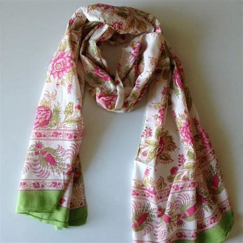 briar pink scarf by anokhi of jaipur india living