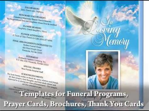 Great Video On How To Create Your Own Funeral Programs By Using Templates Compatible For Free Funeral Program Template Microsoft Publisher