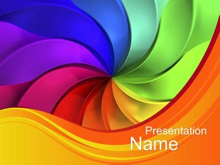 Rainbow Swirl Presentation Template For Powerpoint And Keynote Ppt Star Free Lgbt Powerpoint Templates