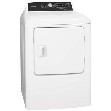 Automatic Dryer ffrg4120sw frigidaire 6 7 cu ft electric dryer white jessup s major appliance centers