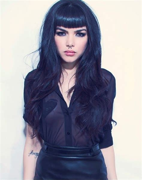 edgy long hairstyles with bangs edgy style for long hair style pinterest