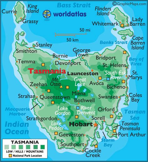 Tasmania Large Color Map Map Of The World Colouring Page
