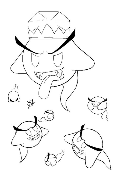king boo pages coloring pages