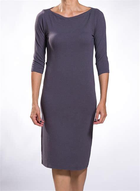 boat neck dress with 3 4 sleeves dress boat neck midi 3 4 sleeves wool viscoze