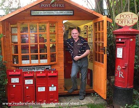 Hstead Post Office by Colne Valley Postal History Museum Cabin Summerhouse From
