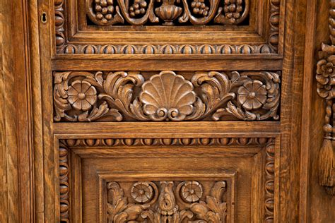 carved cabinet doors antique four door carved cabinet with pierced panels bonnin antiques miami fl