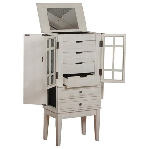 Jewelry Furniture Armoire by Powell Furniture White Jewelry Armoire