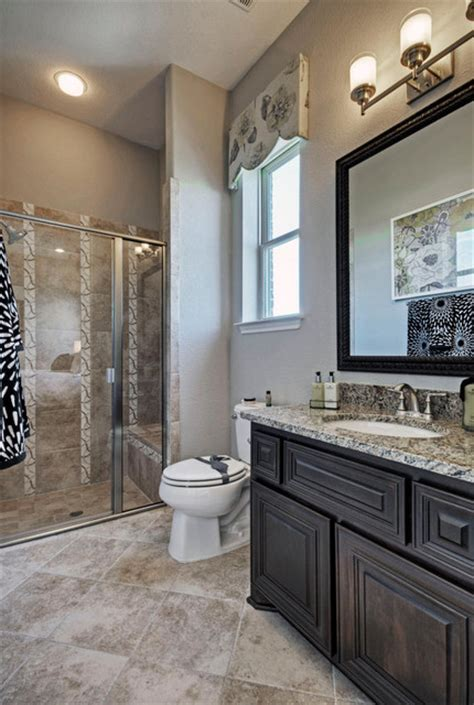 Toll brothers plano tx model contemporary bathroom dallas by linfield design associates