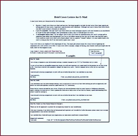 brief cover letters for e mail pdf format free download