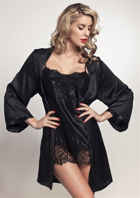Negligee 1000 Ideas About Black Satin On Pinterest Satin Blouses