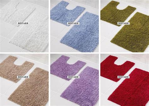 bathroom mats sets 2 piece 100 cotton chenille bath mat set pedestal floor