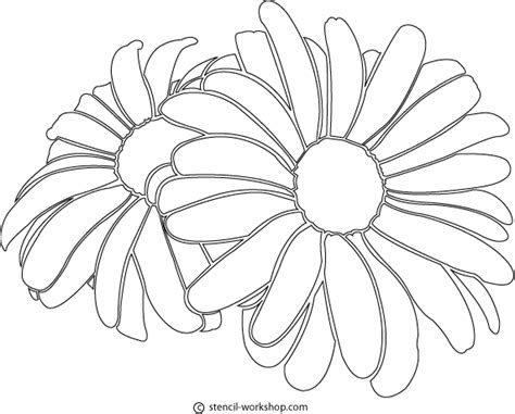 printable daisies flowers 8 best images of printable daisy stencil template daisy