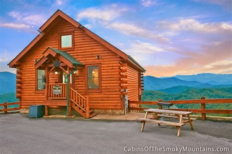Pigeon Forge Mountain Cabins Pigeon Forge Cabin Mountain Top View 1 Bedroom Sleeps 4