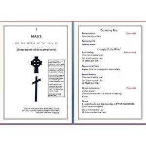 funeral mass program template free six resources to find free funeral program templates to