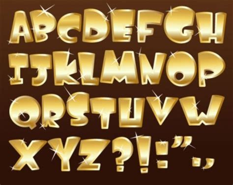font design vector free download 金属のテクスチャ フォント デザインのベクトル その他をベクトルします 無料ベクトル 無料でダウンロード
