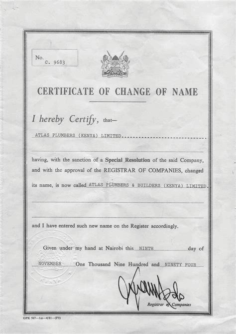 certification letter for name change certification letter for change of name 28 images