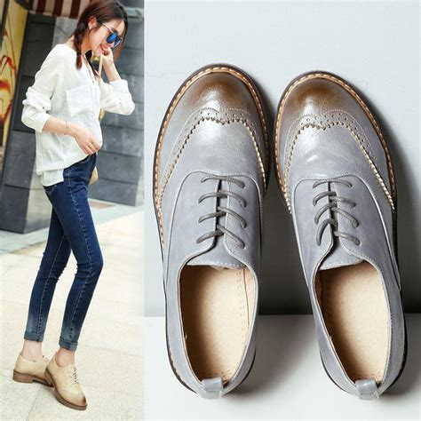 womens casual oxford shoes style fashion toe oxford shoes for