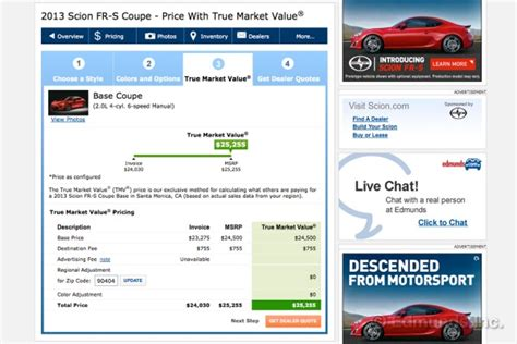 how to use tmv true market value pricing on edmunds