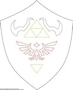 Hylian Shield Outline by Patterns And Link Costume On