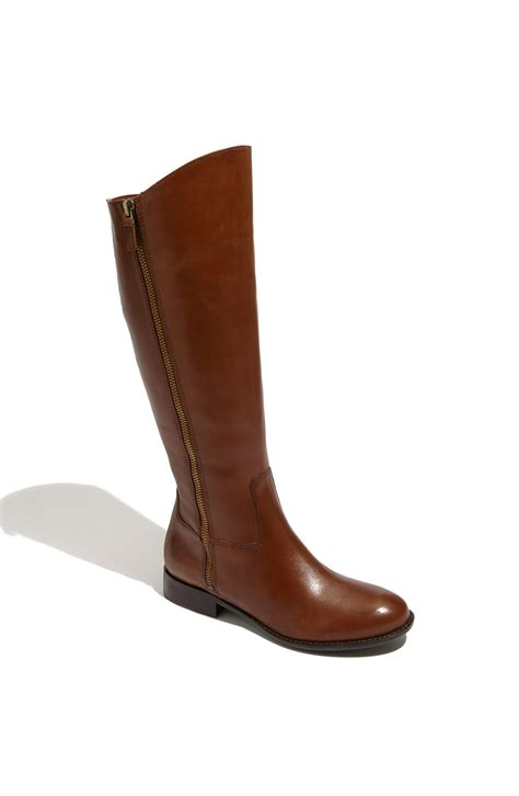 camel boots franco sarto rocket boot in brown camel calf lyst