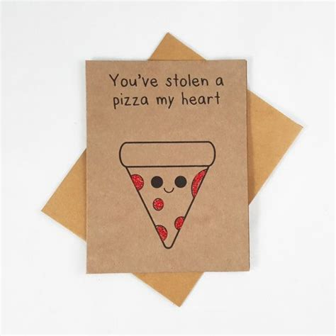 Pizza Valentines Card Template by Pizza Card Greeting Card Food Card Pun By