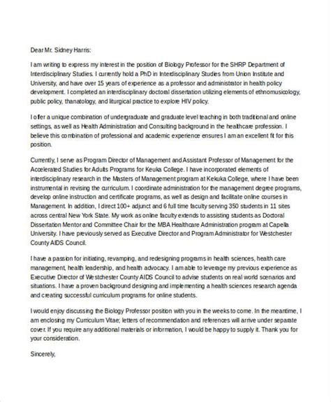 Cover Letter To A Professor