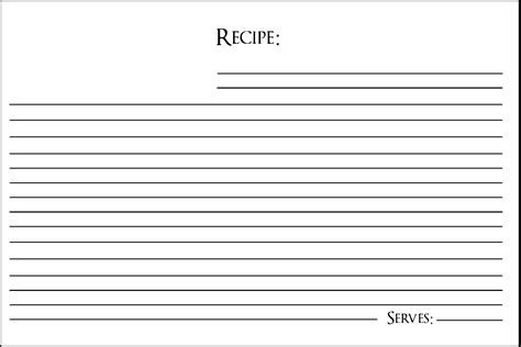 Recipe Greeting Card Club Scrap Recipe Card Template