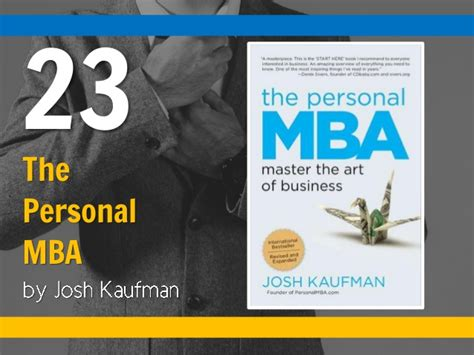The Personal Mba Book In by The Personal Mba 23