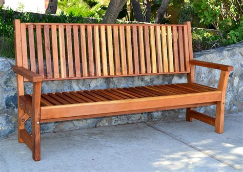 redwood bench redwood garden bench with slats forever redwood