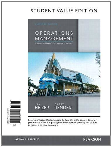 operations management 13th edition books operations management student value edition 11th edition