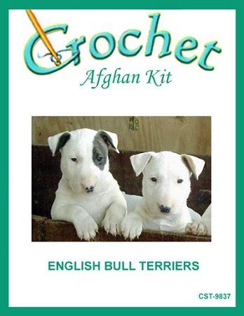 knitting pattern english bull terrier english bull terriers crochet afghan kit