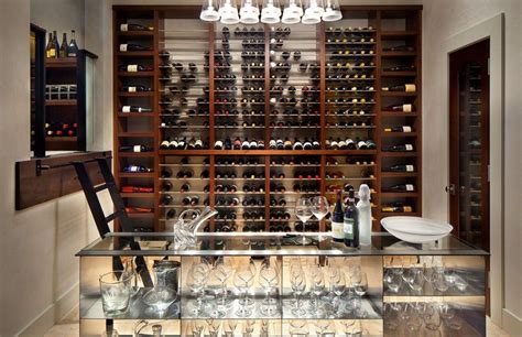 How To Build A Wine Rack In A Kitchen Cabinet Custom Wine Rooms Interior Design Build Services Runa