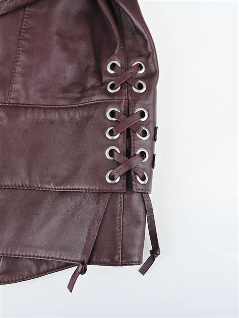 balenciaga burgundy quilted lambskin leather biker jacket