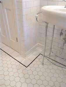 tiling a bathroom floor 37 black and white hexagon bathroom floor tile ideas and